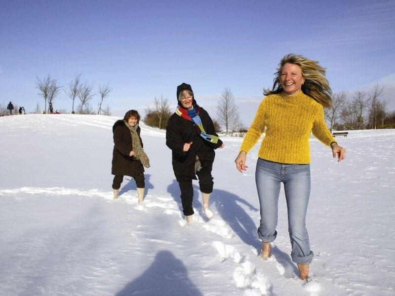 Schneetreten in Bad Wörishofen