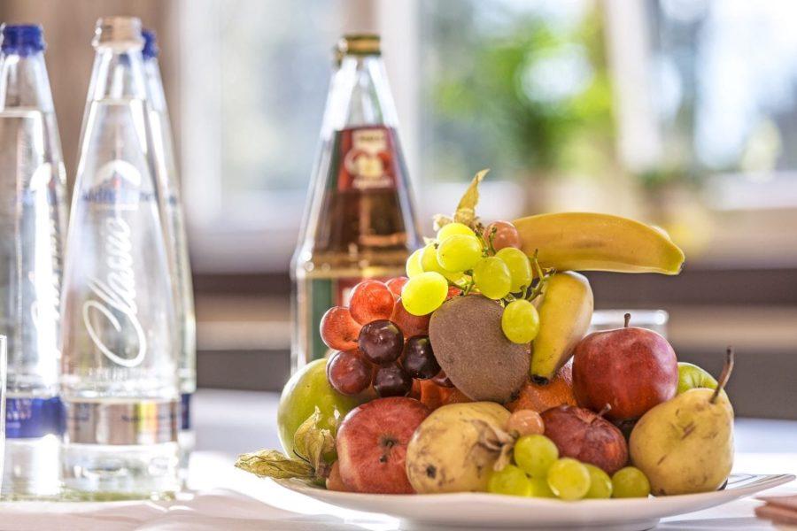 Obstteller & Verpflegung für zwischendurch - Tagungen Hotel Sonnengarten