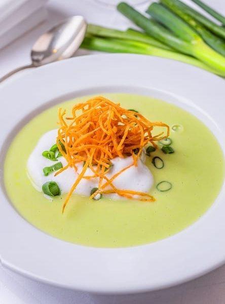 Gemüsesuppe Frühlingslauch Hotel Sonnengarten